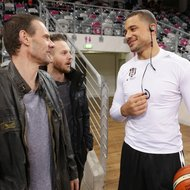 Ex-Trainer Michael Koch / Telekom Baskets Bonn vs. Kyle Weems / Besiktas Istanbul , Basketball Champions LeagueFoto: J