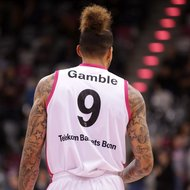 Julian Gamble / Telekom Baskets Bonn vs. Aris Saloniki , Basketball Champions League , von hintenFoto: J