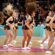 Baskets Danceteam beim Spiel Telekom Baskets Bonn vs. Aris Saloniki , Basketball Champions LeagueFoto: J
