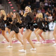 Baskets Danceteam - Cheerleader der Telekom Baskets Bonn vs. Nanterre 92 , Basketball Champions League BCLFoto: J