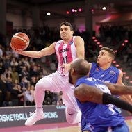 Anthony DiLeo / Telekom Baskets Bonn vs. Fribourg Olympic Basket , Basketball Champions LeagueFoto: J
