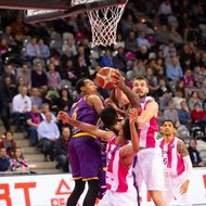 Stefan Bircevic, James Webb III / Telekom Baskets Bonn vs. Hapoel Holon , Basketball Champions LeagueFoto: J